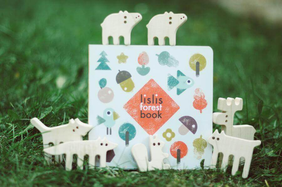 Set balance-toy Forest animals and book