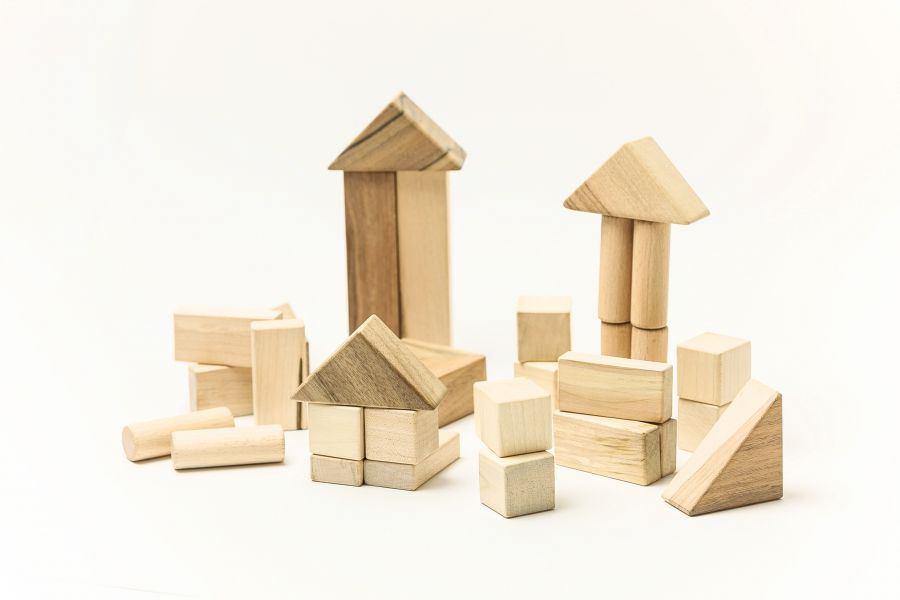 Wooden blocks Small set