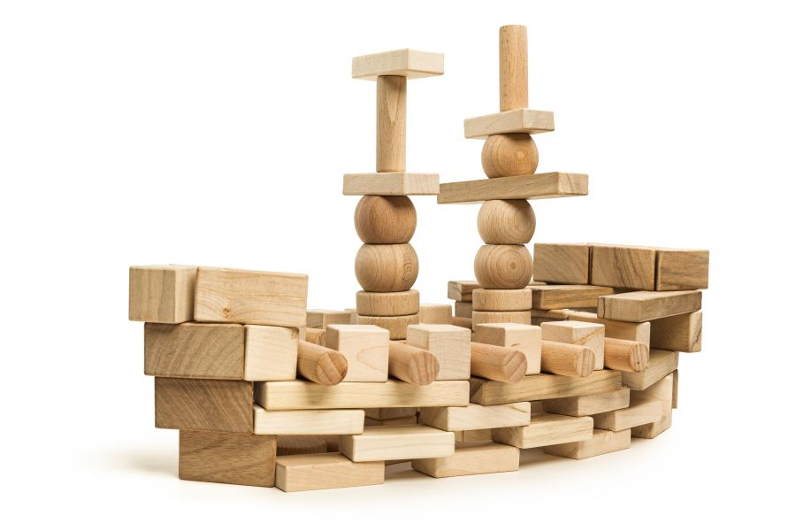 Wooden blocks Big set